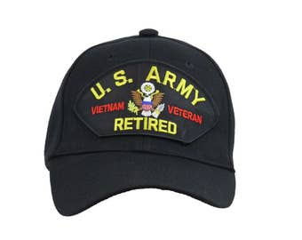 US Army Vietnam Veteran Retired cap