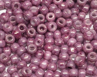 8/0 Toho Marbled Pink/Pink 1202, Japanese Glass Seed Beads 28g.