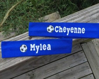 Soccer Headbands with Name 2 inch   ~