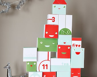 Reversible Printable Advent Calendar for Kids - PaperCraft Holiday Kit