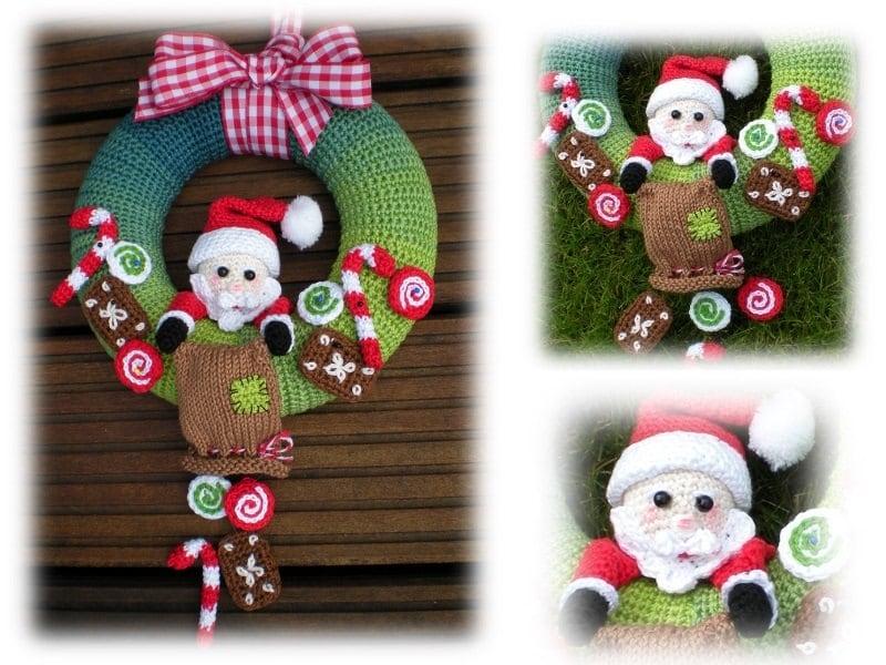 Contemporary Crochet Christmas Wreath Pattern Ensign Blanket