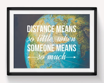 World map poster world map print love quote map of the world map poster world map print love quote map of the world globe travel long distance relationship leaving gift wanderlust map gumiabroncs Choice Image