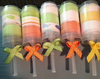 Baby Washcloth Push Up Pops- Baby Shower Favor