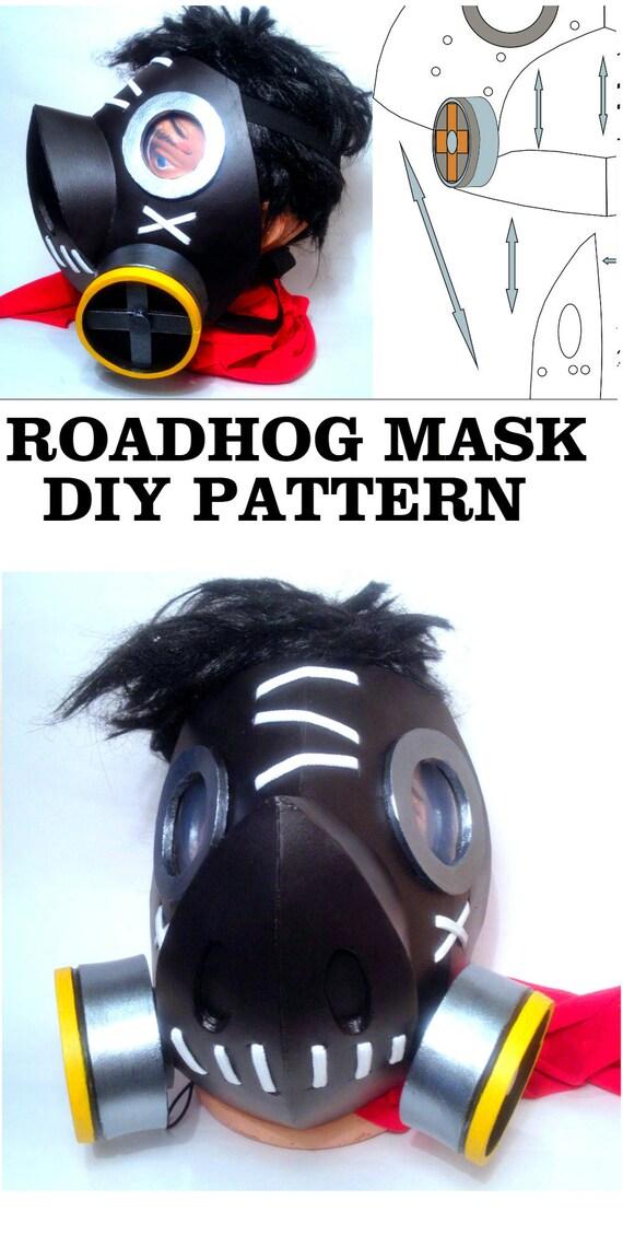 DIY Roadhog Mask Overwatch Cosplay Costume Printable Template ...