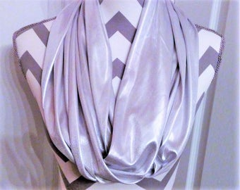 Formal Scarves, Infinity Scarf, Fashion Scarves, Silver Scarf, After Five Scarf, Loop Scarf, Circle Sarf, Accessories, Ladies Clcothing