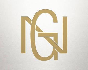 Printable Monogram Design - GN NG - Printable Monogram - Custom