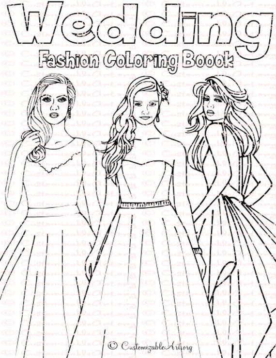Wedding Coloring Book Bride Spiral Bound Fashion Pdf