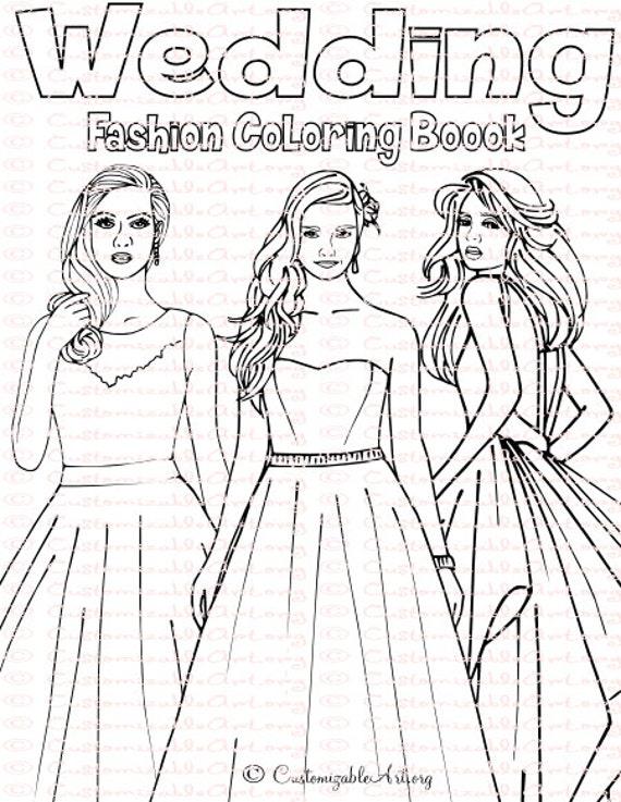 Wedding Coloring Book Bride Spiral Bound Fashion Pdf