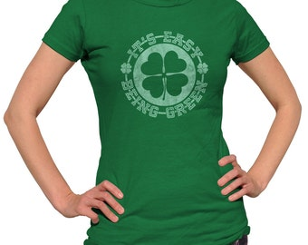 It's Easy Being Green St Patrick Day Shirt - Shamrock Shirt - St Patricks Shirt - St Patricks Outfit/ (See SIZING CHART in Item Details)