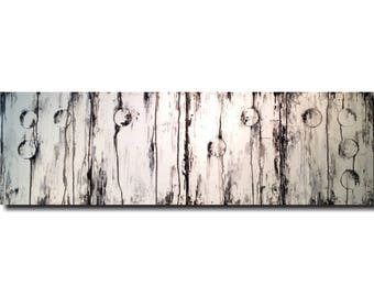Abstract Painting, braille artwork, wall decor, Large wall art, industrial paintings, black, white , jmjartstudio,