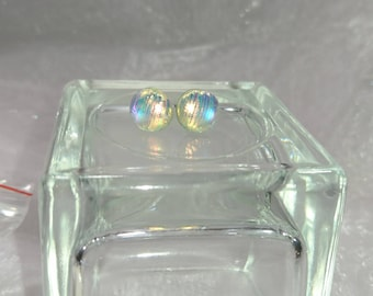 Stud Earrings clear melted glass