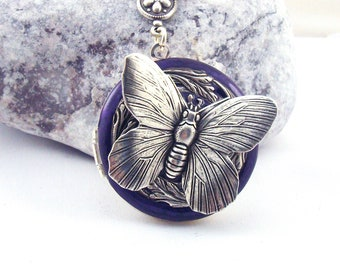 locket silver lockets index butterfly