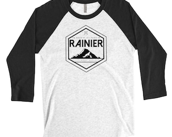 Rainier / Washington / Mountains / Hiking / Adventure Baseball Tee