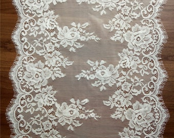 "White lace table runner, 13"", wedding table runners , lace table runner,  wedding runners,  lace table runner,  JX92802"