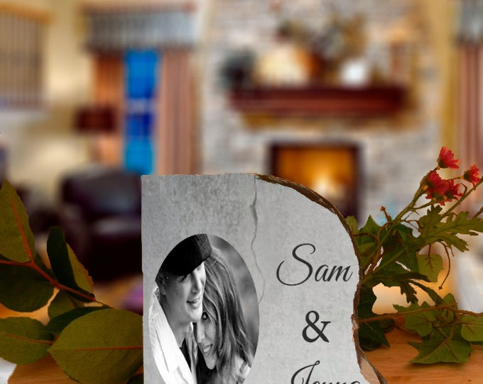 Personalized Slate With Name And Photo | Wedding, Anniversary, Bridal Shower Gift or For Any Occasion. Anything is possible! Design#SL102