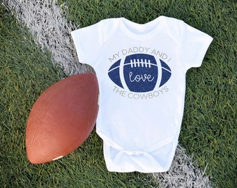 Dallas Cowboys / Football / Baby Bodysuit / Sports Team / Cowboys Baby / Baby Clothes / Game Day / NFL / Football with Daddy
