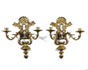 Pair of Vintage Brass Sconces