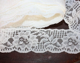 5 Yards = 4.57 Meters of Beautiful Embroidery Lace Trim for Lingerie Bridal Garters Altered Couture Dolls clothing's Costume Design Sewing