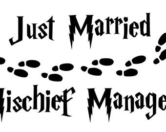 Just Married Mischief Managed Harry Potter SVG File!