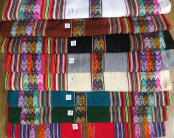 8 Peruvian Fabrics: Sample Pack