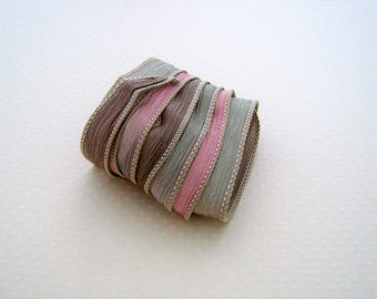 Ribbon color No. 607 hand dyed silk