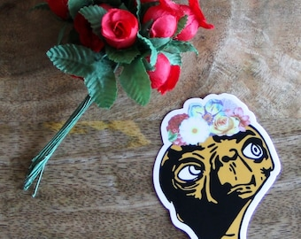 ET Frida Sticker, ET, Frida, Flowers, Sticker, Vinyl Sticker, Die-cut Sticker