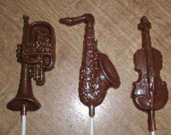 Musical Instruments  Lolly Chocolate Mold