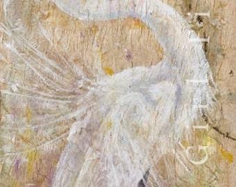 Bird Painting, Egret Painting, Bird Artwork, Watercolor Bird, Animal Art Print, Bird Wall Art, Bird Illustration, Wildlife Painting