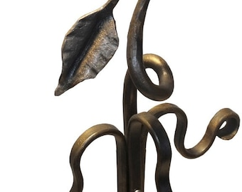 Wrought Iron Leaf Fireplace Tool Stand
