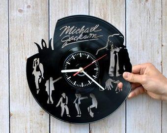 Michael Jackson Handmade Vinyl Record Wall Clock Cool Design