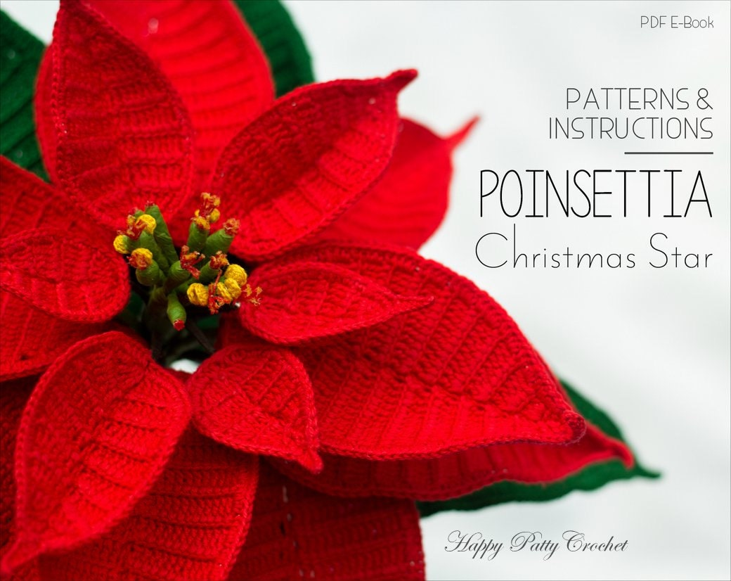 Crochet poinsettia pattern crochet flower pattern zoom jeuxipadfo Choice Image