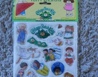 choux les enfants autocollants - ons pour bâton gonflés 1983 neuf dans emballage