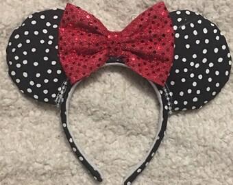 Black Polka Dot Ears