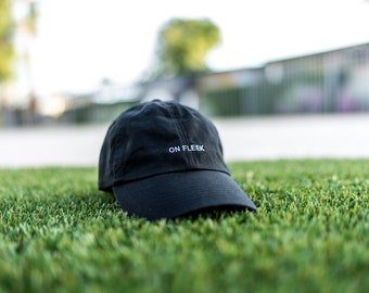Black On Fleek Dad Cap Low Profile Hat **Free Domestic Shipping**
