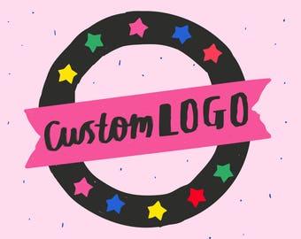 Benutzerdefinierte Logo-Design - maßgeschneiderte Logo - illustriert Logo - Schriftzug, Logo-Design hand