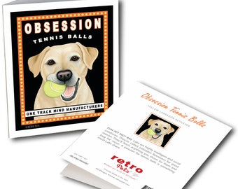 "Labrador Cards  ""Obsession Yellow Lab"" 6 Small Greeting Cards by Krista Brooks"