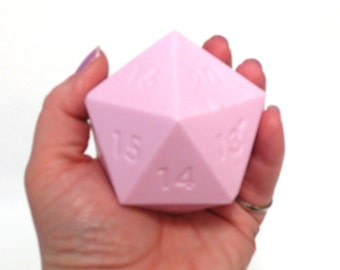 D20 Gamer Dice Giant Soap Bar Ball Black Amber Musk Pink Color Ready To Ship Geek Gifts