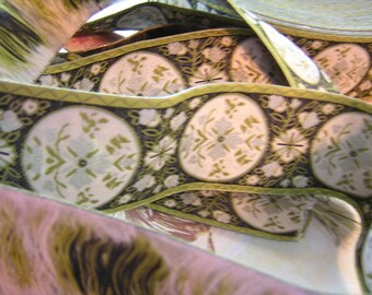 Victorian Inspired Jacquard Ribbon Sewing Trim SCA Medieval Costume 5 Y x 1 1/2""