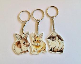Bunny Rabbit Keyring