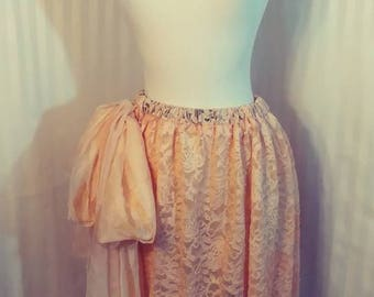 Peach Lace Skirt Size Medium