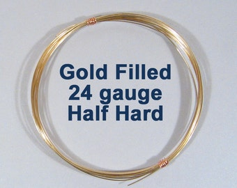Gold Filled Wire - 24ga HH Half Hard - Choose Your Length