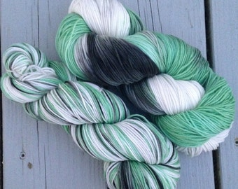 I'd Tell You But You Wouldn't Listen - 13% off - NEW hand dyed superwash Merino super soft wool blend sock yarn 462 yards 100 grams
