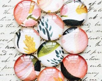 Push Pins / Magnets - Decorative Push Pins - Glass Push Pins - Office Supplies - Office Magnets - Flower Magnets - Flower Push Pins - Pink