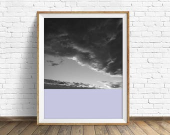 """black and white, abstract photography, large colorful wall art, instant download printable art, large art, wall art prints- """"Skyscape No. 5"""""""