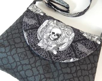 Skull Bag/Gothic Skull purse/Skull Shoulder bag