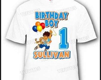 Personalized Go Diego Go Birthday T-Shirt
