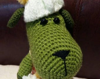 Crochet toy,dog toy,green,stuffed toy,irish colours