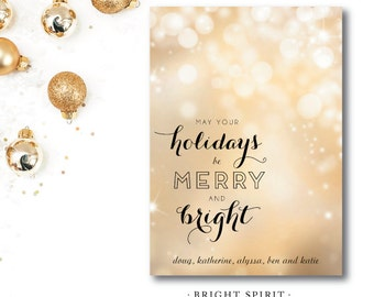 Bright Spirit Printed Holiday Cards | Christmas or Holiday Card | Printed and Printable by Darby Cards