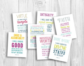 LDS Young Women values printable