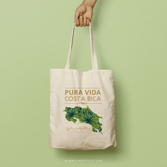 VIDA Tote Bag - Palm on Red by VIDA weWzeAy